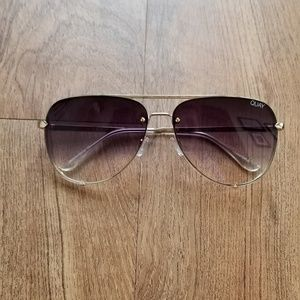 Quay x Desi Perkins High Key Rimless Sunglasses